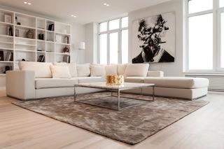 简约客厅米白色沙发装饰效果图