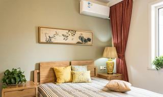 优雅中式风格卧室窗帘装饰图