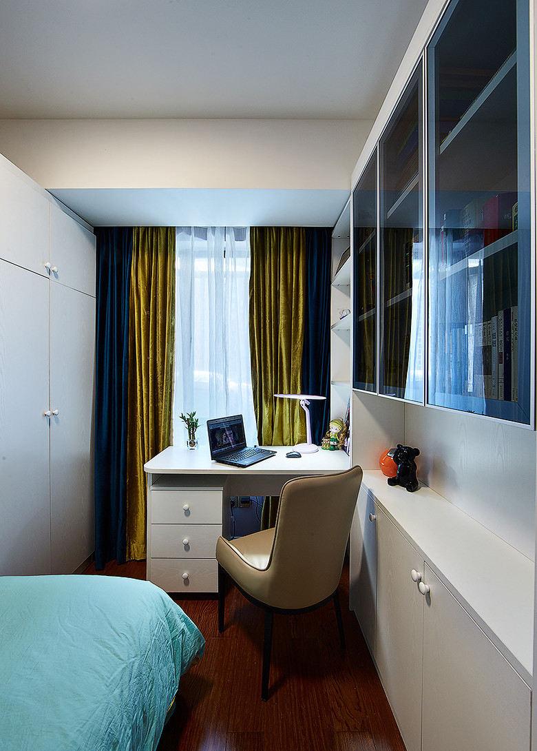 时尚现代风格书房窗帘装饰效果图
