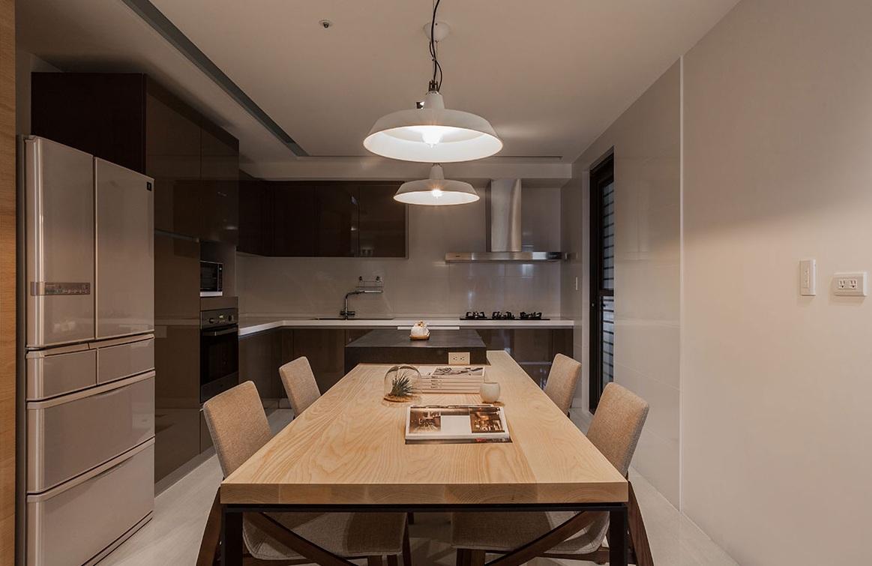 简约现代餐厨房一体装修设计