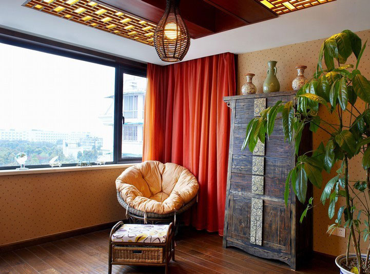 古典休闲中式风格家居阳台窗户设计图
