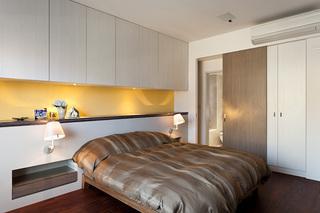 现代简约风卧室整体柜效果图
