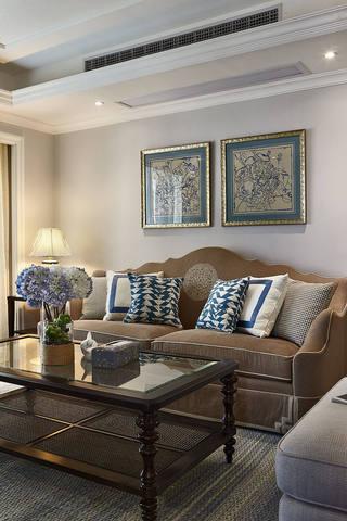 精美复古美式家居客厅照片墙欣赏