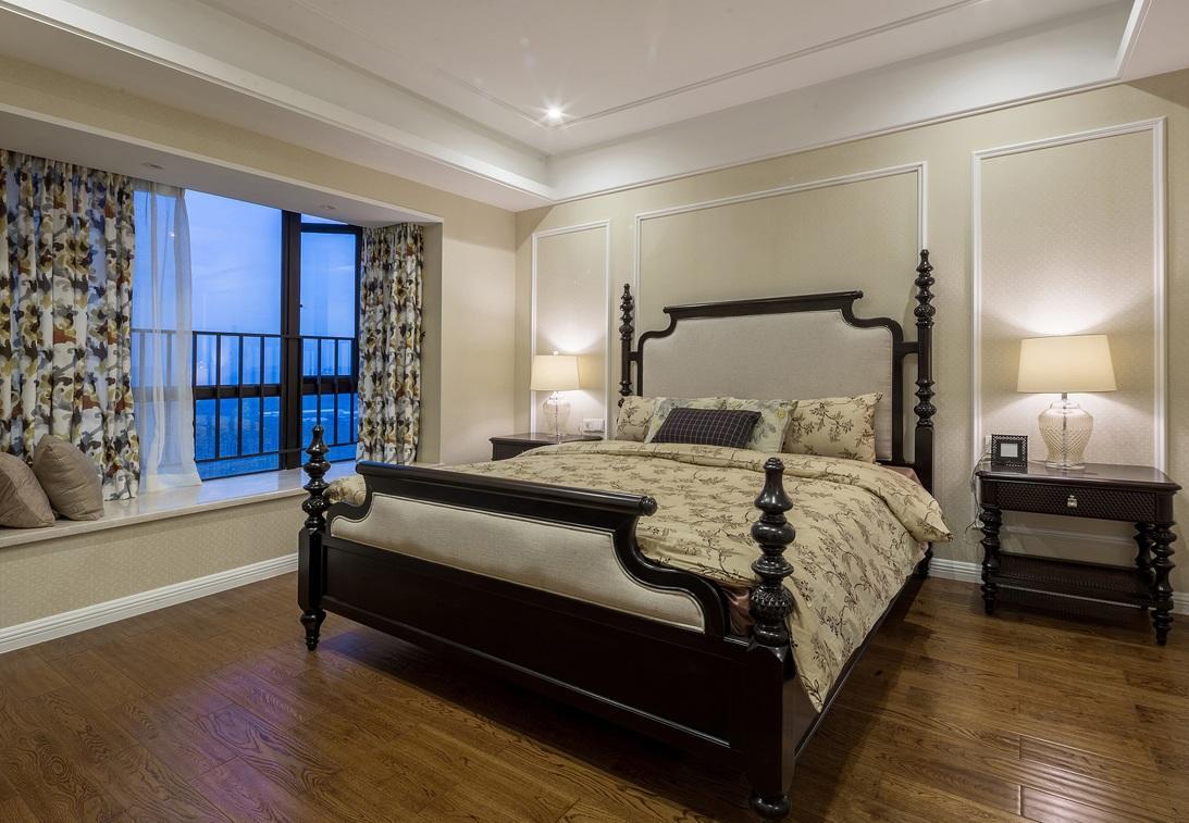 简约复古欧式风格卧室带飘窗装修设计