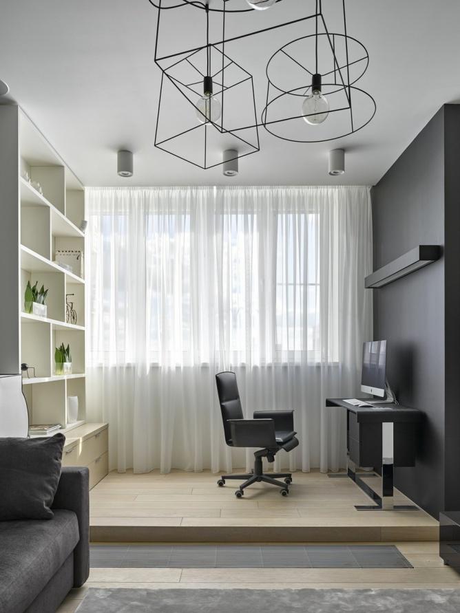 艺术时尚简约小书房设计装修图
