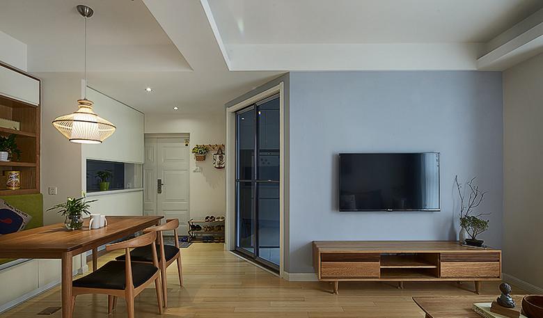 清新简约装饰风格两居装潢案例图