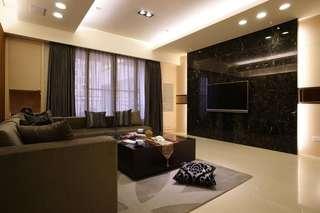 现代家装设计132平米四居室室内装修案例图