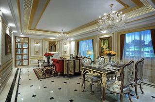 奢华新古典宫廷风欧式客餐厅装修效果图