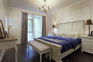 古朴悠闲美式风格卧室软装装饰效果图