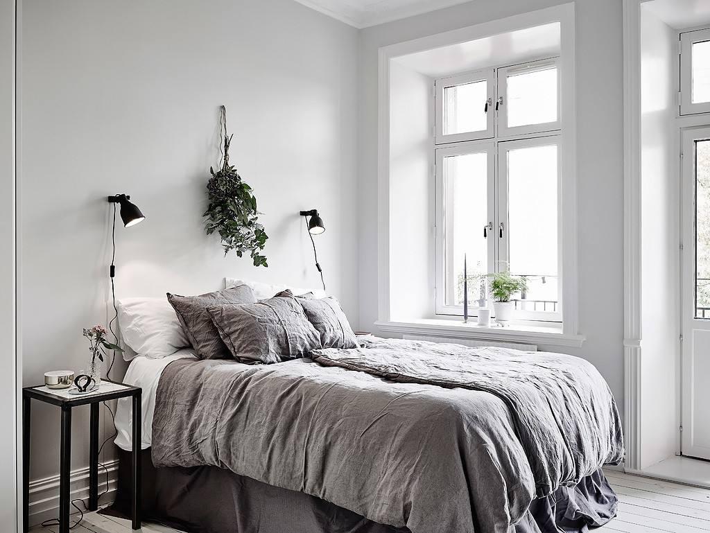 雅致简约北欧风格单身公寓卧室效果图
