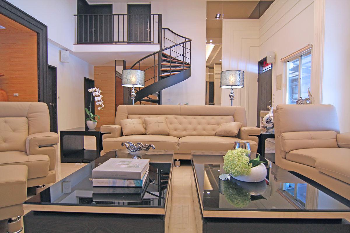 时尚个性现代风跃层客厅装饰设计
