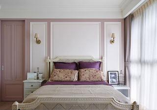 优雅唯美美式卧室床头背景墙装饰图