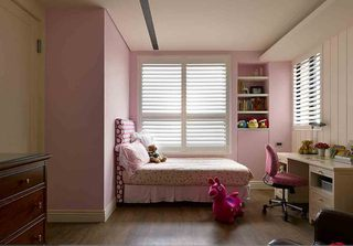 甜美粉色简美式公主房装修效果图