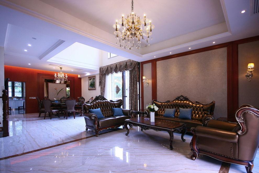 欧式古典风格别墅室内吊顶设计装修图