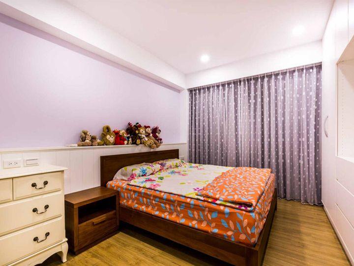 浪漫淡紫色现代简约装饰卧室效果图大全