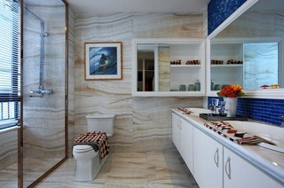 优雅精致美式新古典装修卫生间效果图