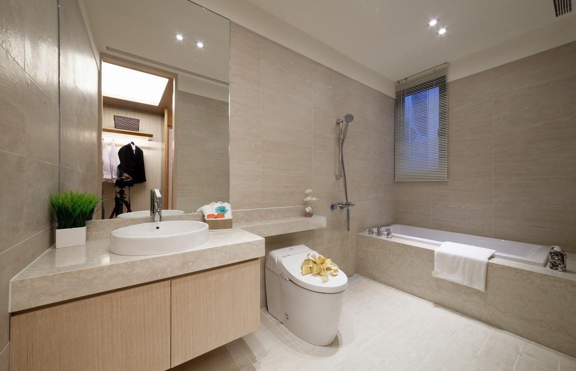 现代日式风格卫生间设计装修图