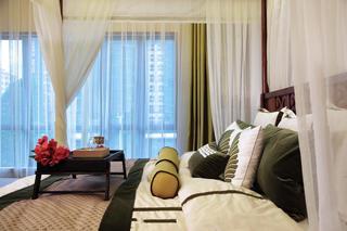 浪漫东南亚装修卧室床帐装饰效果图