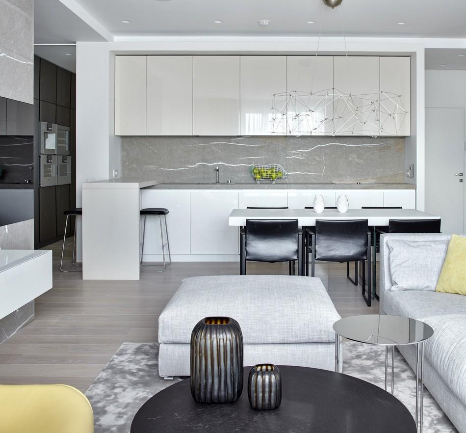 极简艺术设计两居室内装修图