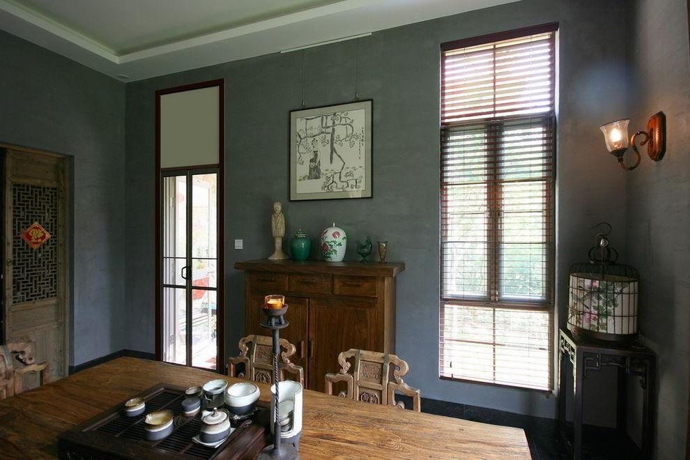 素色文雅中式家居茶室装修设计图