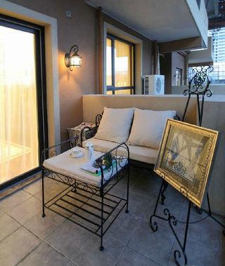 美式风格开放式阳台装修效果图