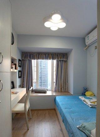 朴素清新现代风格卧室飘窗设计装修图