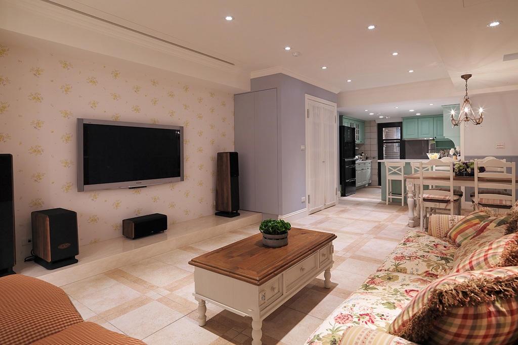 法式田园风装饰现代公寓室内效果图