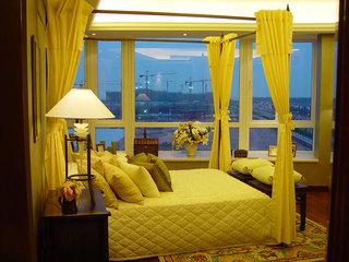 现代中式装修景观卧室窗户设计