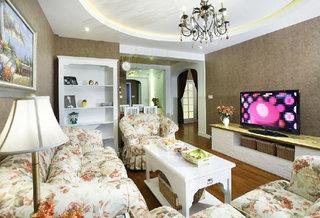 简约韩式田园风小户型两居室装修效果图