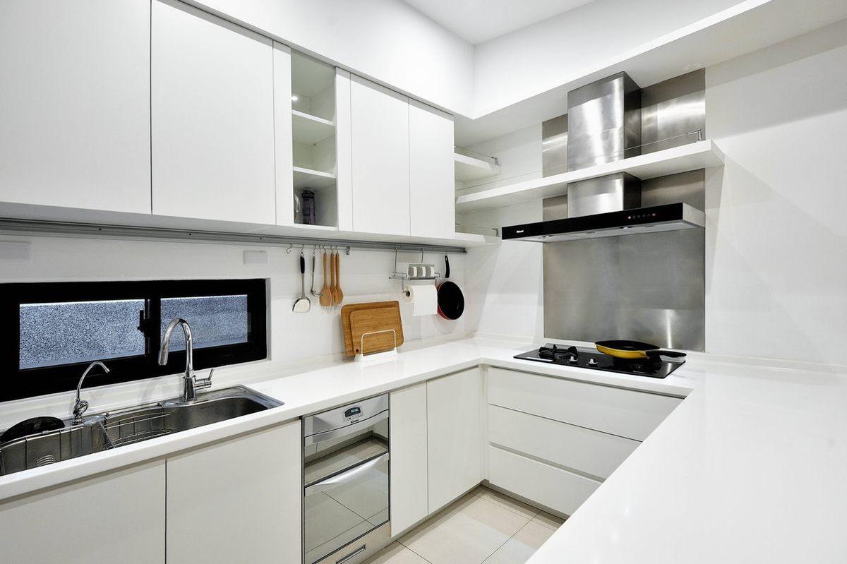 清爽简约装饰厨房白色橱柜效果图片