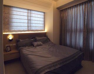 简约现代风卧室遮光窗帘效果图欣赏