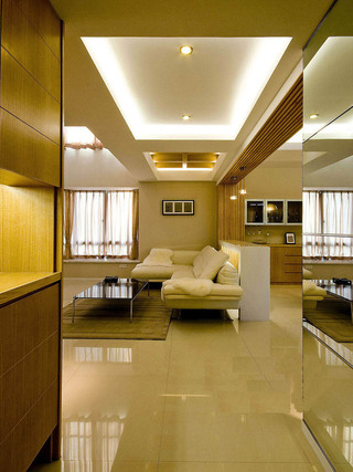精美暖色调现代简约风格复式楼家装设计