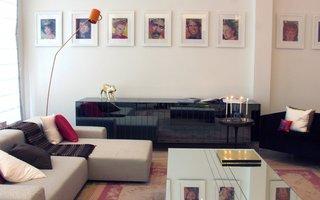 时尚现代混搭三居客厅垂钓式手工灯饰装修图