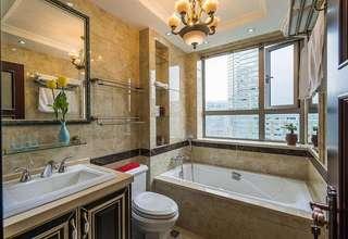 精美欧式风浴室大理石墙砖效果图