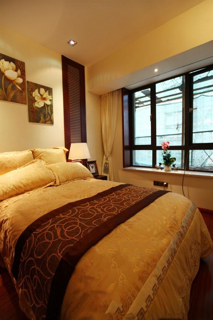 浪漫唯美东南亚家居卧室带飘窗效果图