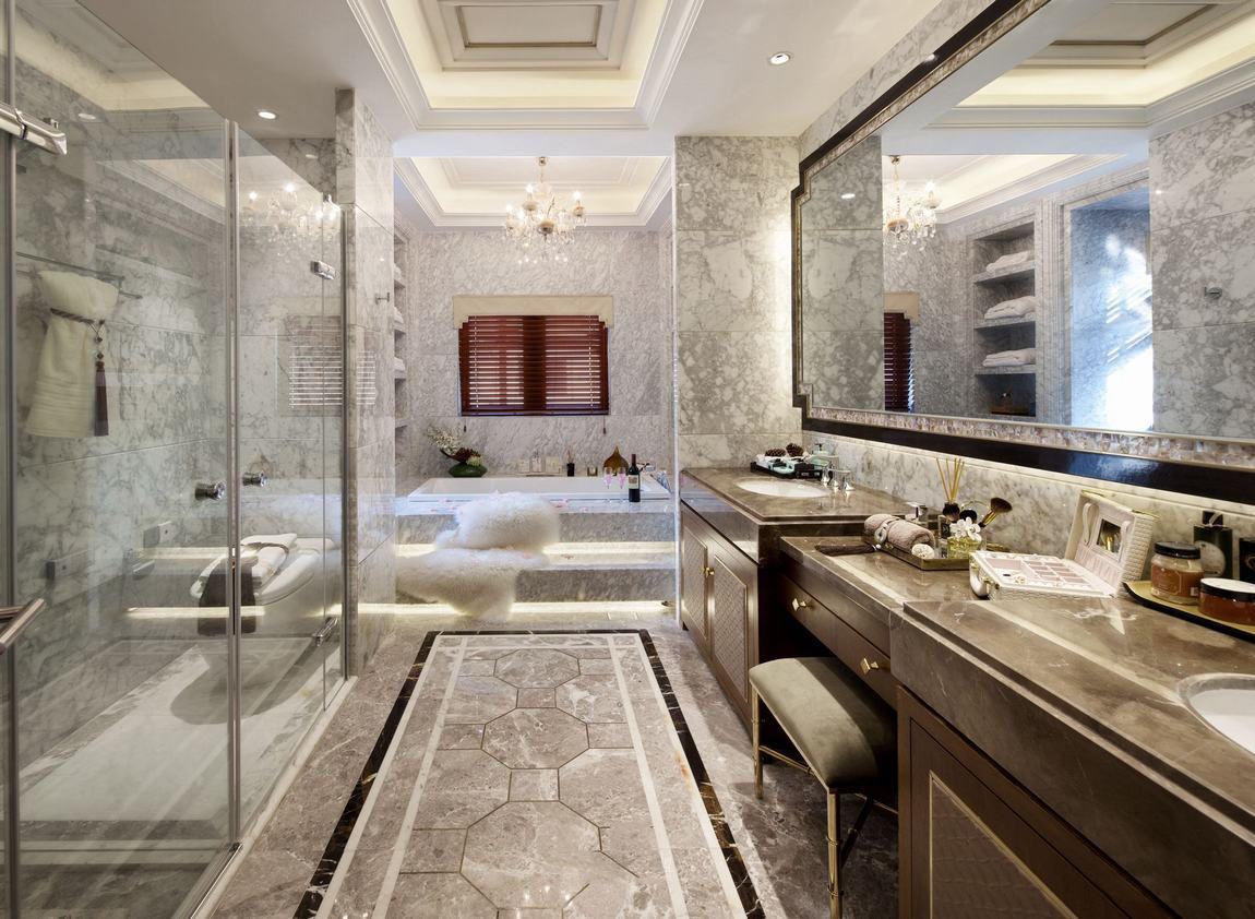 时尚唯美奢华美式别墅卫生间欣赏大全