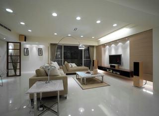 明亮现代客厅垂钓式灯饰效果欣赏图