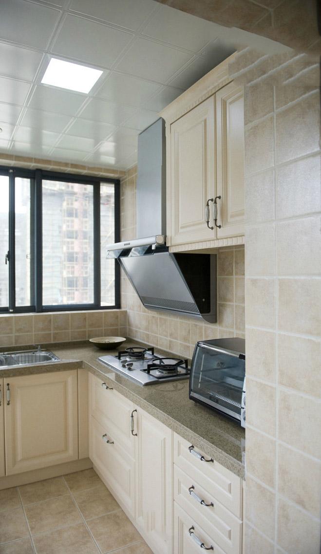 素雅舒适田园设计厨房橱柜效果图