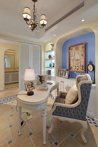 梦幻简欧地中海设计书房欣赏大全