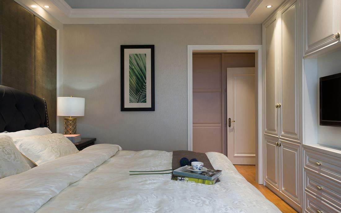 简约美式家装设计卧室局部效果图