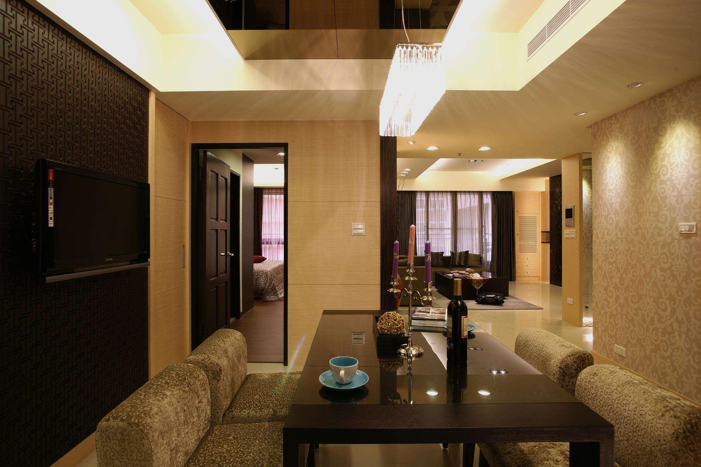 低奢舒适现代餐厅效果图大全欣赏