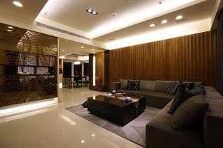 素雅现代风格客厅沙发装饰效果图