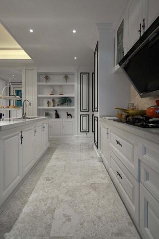 时尚优雅美式装修厨房橱柜效果图