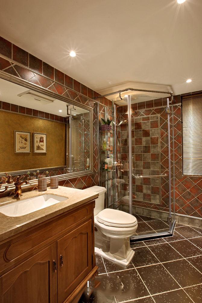 怀旧美式卫生间设计装修图