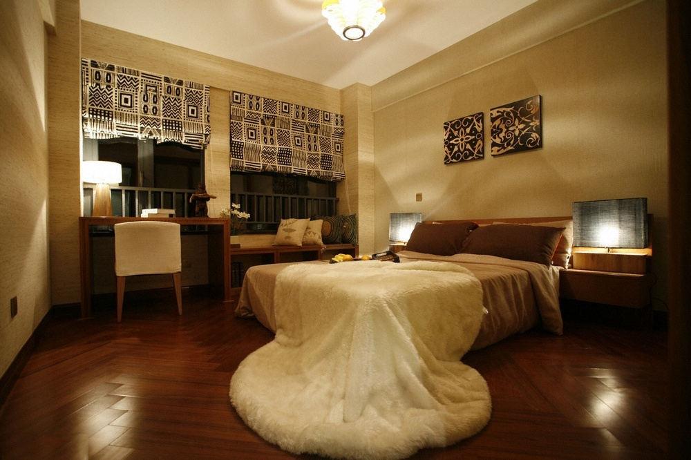 简约复古东南亚家装卧室效果图大全