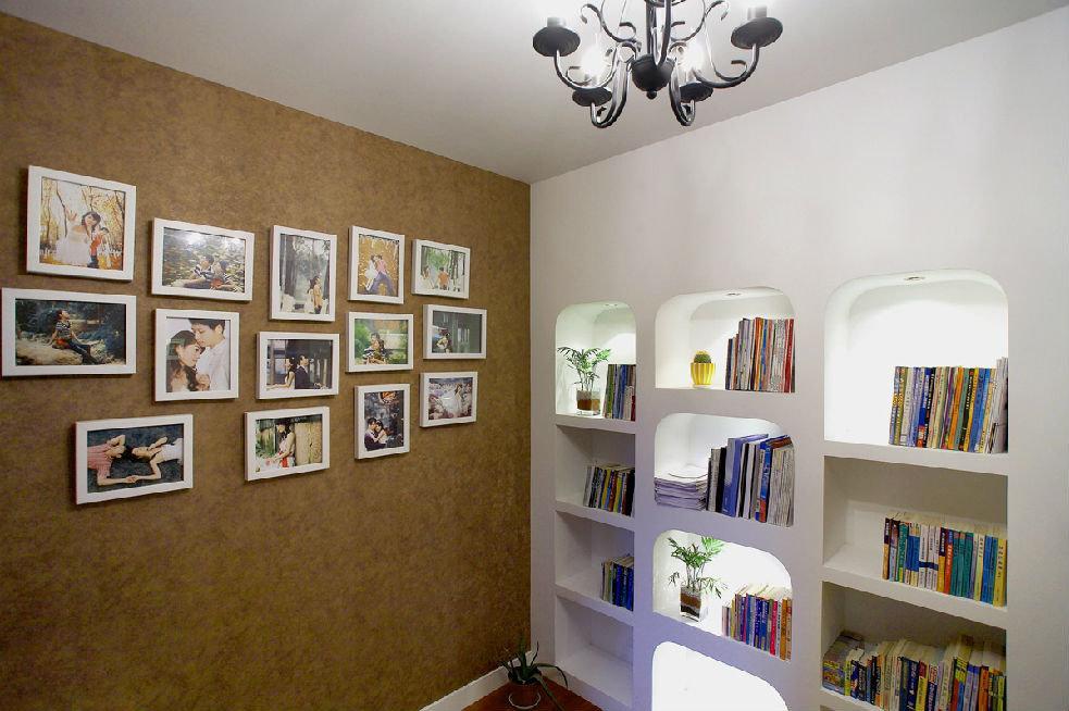 简欧设计照片墙多功能隔断装修效果图