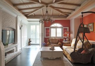 美式乡村风格复式室内装饰图