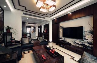 时尚黑色系现代中式混搭设计别墅装修案例欣赏