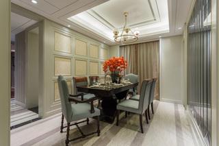 清雅含蓄美式风格餐厅设计装修图