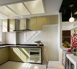 时尚精致现代开放式厨房带吧台效果图